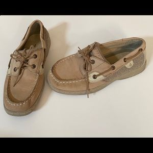 Sperry Kids Tan Slip-On Shoes - Size 3